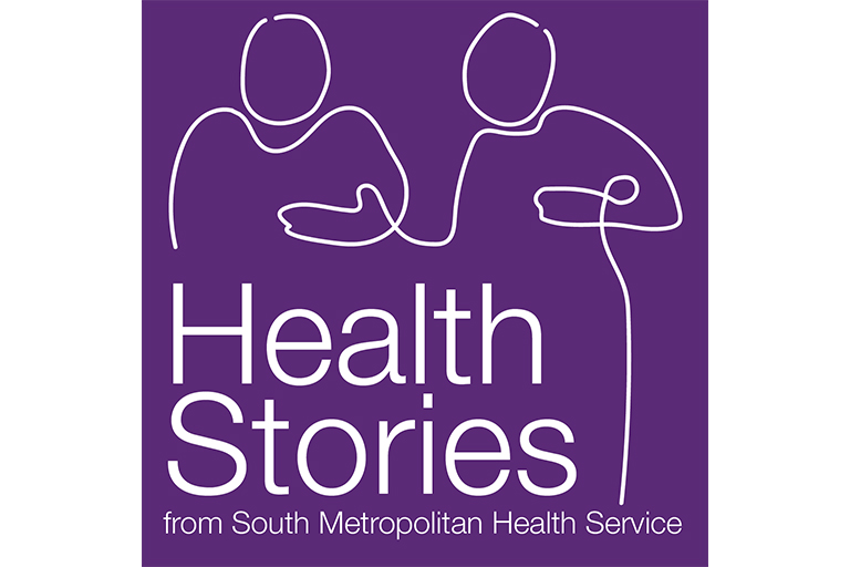Logo features the silhouette of two people and the words 'Health stories from the South Metropolitan Health Service