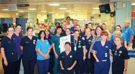 Fremantle Hospital Emergency Department Staff in the department