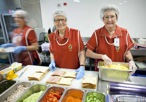 Ladies Auxiliary volunteers making sandwiches