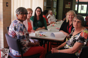 Nara volunteers and coordinators enjoy lunch at Fremantle Hospital's Volunteer Appreciation Day